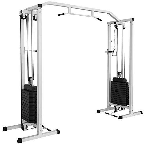 BodyRip PRO Crossover Machine (with 180kg Weights) | Power Cable Strength Training, Home Gym Equipment, Fitness Exercise, Weight Lifting, Fat Loss, Workout, Crossfit, Calisthenics