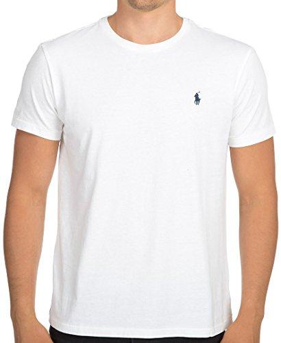 Polo Ralph Lauren Camiseta con cuello circular de hombre (Large, White)