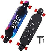 41 inch Freeride Longboard Skateboard Cruising Long Board, 8 Layer Canadian Maple Long Boards Skateboard for Adults Beginners Girls Boys Carving and Downhill