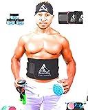 Waist Trimmer Waist Trainer for Men Women Ab Belt Sweat Belt Sauna Slim Weight Loss Belt Adjustable Stomach Fat Burner Wrap and Waist Trainer Sweat Trainer for Men and Women (Black)