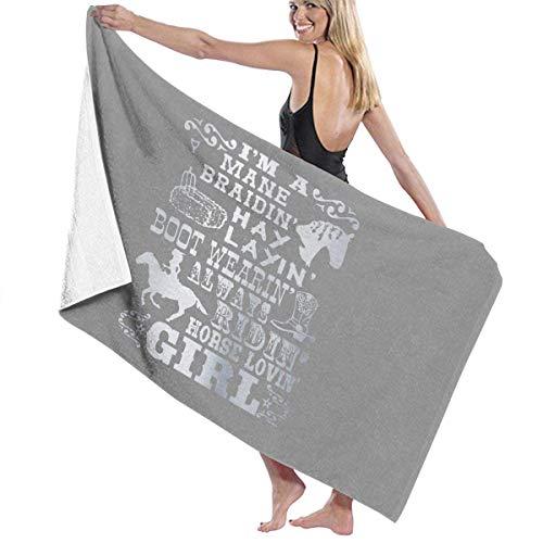 LOPEZ KENT Badhanddoeken Paard Liefdevolle Meisje Paardrijden gedicht Baby Grote Zachte Bed Strand Handdoek Badkamer Set Badkamer Accessoires