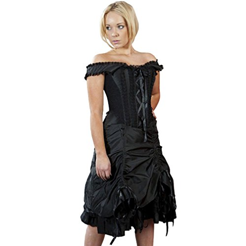 Burleska Korsett Kleid - DITA Taffeta Schwarz 40