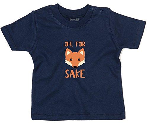 for Fox Sake, T-Shirt imprimé bébé, Nautique Bleu Marine/Transfer, 18-24 Mois
