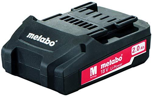 Metabo 6.25596.00 - Batería de recambio para taladro atornillador BS 18 Li (18 V, 1,5 Ah, con cargador SC60Plus, en maletín), 1 unidad