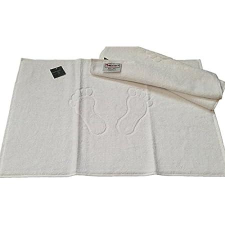 WHITE NON SLIPER BATH MAT HOTAL QUALITY SHOWER 50X 75 CM TERRY TOWEL 100/% COTTON