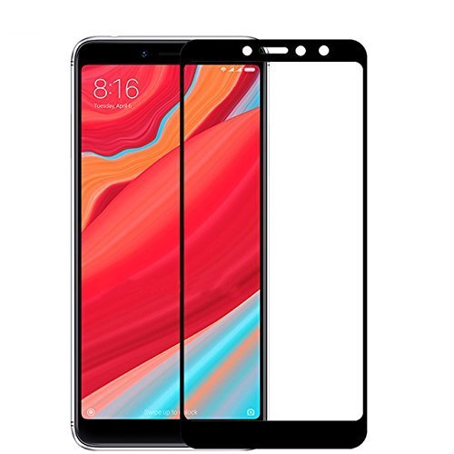 SKIN WORLD Tempered Glass for XIAOMI REDMI MI Y2 (Black) Edge to Edge Full Screen Coverage with Easy Installation kit