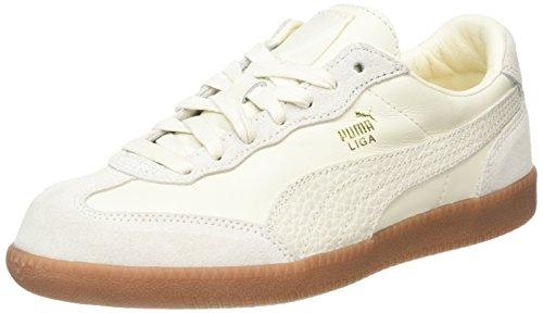 PUMA Liga Leather, Scarpe da Ginnastica Basse Unisex-Adulto, Bianca (Whisper White-Whisper White), 48.5 EU