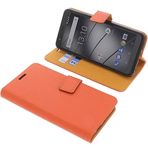 foto-kontor Tasche für Gigaset GS280 Book Style orange Schutz Hülle Buch