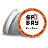 SF Bay Coffee Kona Blend 36 Ct Medium Roast Compostable Coffee Pods, K Cup Compatible including Keurig 2.0