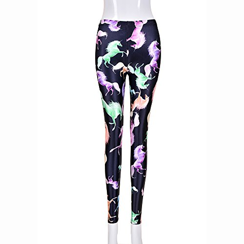 Een paar BFD dames dames bedrukt tattoo leggings of glanzende leggings een maat