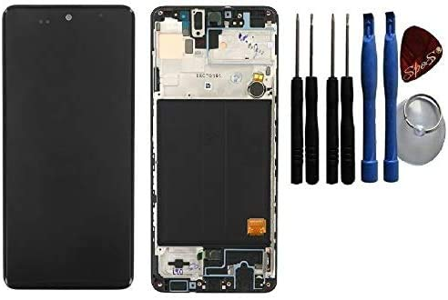 LCD Display Touch Screen Glas Digitizer für Samsung Galaxy A51 A515F Rahmen schwarz Black inkl Werkzeug