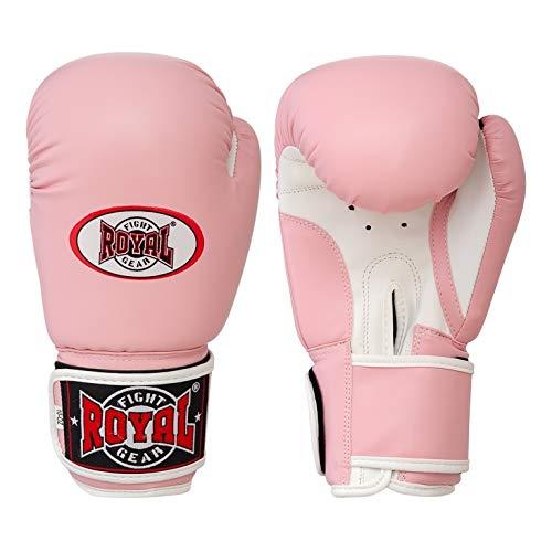 Guantes de boxeo de diseño único, guantes de entrenamiento y de pesca, guantes de entrenamiento de boxeo para hombre y mujer, color rosa, 12 oz.