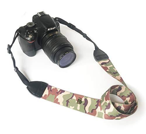 Alled Tracolle per Macchine Fotografiche,Cinghia Fotocamera Bohemia Vintage Spalla Cinghia Reflex per DSLR SLR Nikon Canon Sony Lumix Olympus Samsung Pentax Fujifilm Universale (Morbido Camuffare)