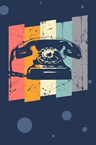 SKIZZENBUCH: 80er Party Notizbuch Blanko A5 - 120 Seiten für Notizen Skizzen Zeichnungen - 80er Jahre Geschenk für Retro Liebhaber Vintage Liebhaber - Vintage Telefon Notizheft Retro Telefon