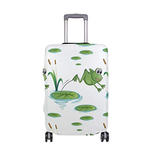 Travel Luggage Cover Frogs Elastic Suitcase Protector Washable Baggage Covers Fits 18-32 inch