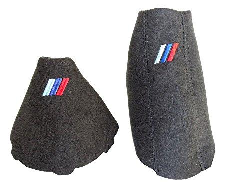 Automático Gear y freno de mano negro Genuine Suede M3///Bordado