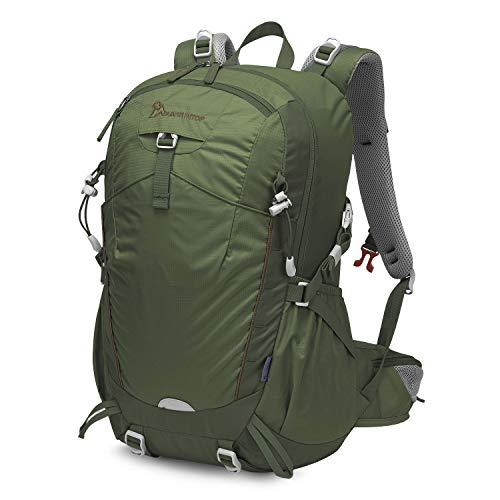 MOUNTAINTOP 35L Hiking, Camping, Travel Backpack with rain Cover for Men Women