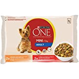 One – Perro – Adultos – Borrados en Salsa – Carne y Pollo – 4 x 100 g – Lote de 10