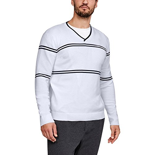 Under Armour UA Sportswear V-Neck Sweater LG White