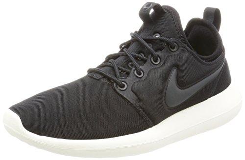 Nike Damen W Roshe Two Laufschuhe, Schwarz (Black/Anthracite/Sail/Volt), 40.5 EU