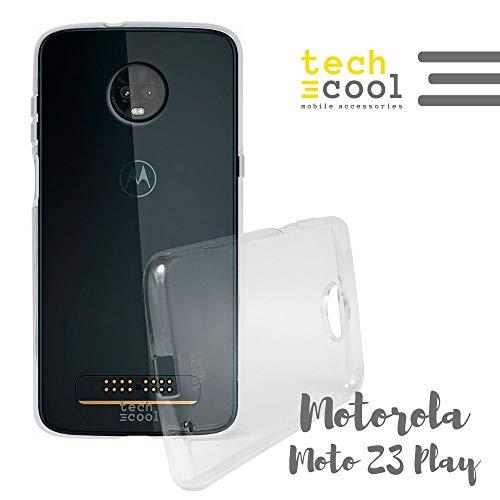 Funnytech® Carcasa Silicona TPU para Motorola Moto Z3 Play [Funda Silicona Flexible Resistencia Muy Fina y Ligera Acabado Brillo Anti-Huellas y Manchas]