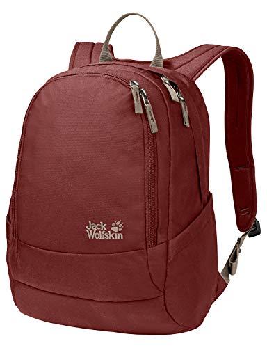 Jack Wolfskin Perfect Day, bequemer Rucksack mit breiten Gurten, DIN-A4-tauglicher Tagesrucksack, Backpack mit guter Lastenverteilung für Alltag und Freizeit, redwood, ONE SIZE