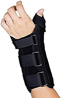Sammons Preston R-Soft Wrist Brace with Thumb Spica, MC and CMC Joint Support and Stabilizer, Secure Brace and Splint for Thumb with Open Finger, Splint for Recovery, Therapy, Rehabilitation