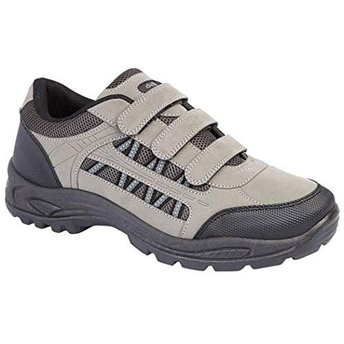 Mens DEK ASCEND Triple touch fastening Trek & trail Shoe GREY size 9 UK