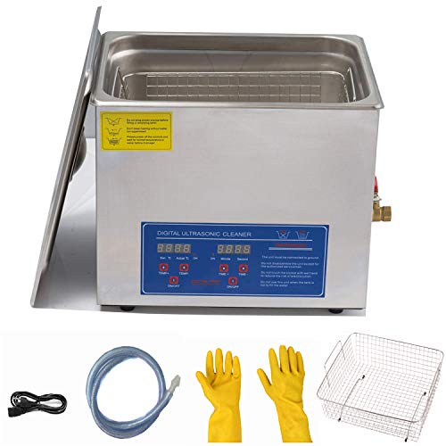 15L/3.9gallon Ultrasonic Cleaner with Digital Timer&Heater 300+360W Ultrasonic Power for Metal Parts, Carburetor, Fuel Injector, Brass, car Parts, Engine Parts, Motor Repair Tools, Gun Parts