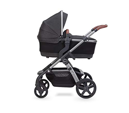 Silver Cross Wave 2020 Fully Adjustable 2-In-1 Tandem Baby Pram and Pushchair, Converts From Single to Double Buggy – Charcoal