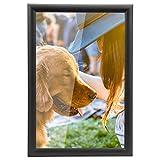 Yorbay Cornice Foto da Parete e da Tavolo, Cornici in Legno con Plexiglass, Nero (10x15 cm / 6 Pollici)