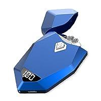男性用電動USBライター、充電式デュアルアークプラズマライター、USB防風フレームレスシガレットライター、ブタンフリーライター、夫、父、ボーイフレンドへのギフト,ブルー