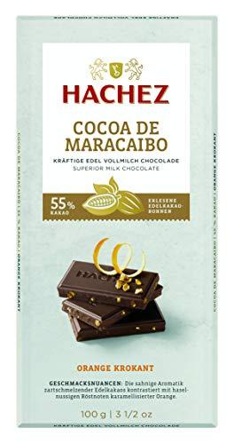 Hachez Cocoa Tafel - Cocoa de Maracaibo Tafel Orange-Krokant (1 x 100 g)