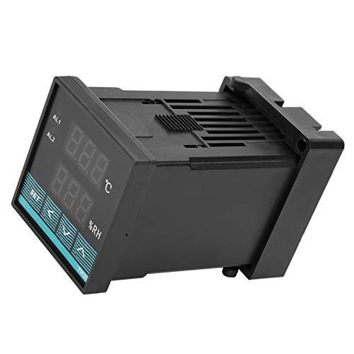 Controlador de temperatura, sensor de temperatura de salida de relé de dos canales, función de filtrado digital Velocidad de respuesta rápida para el gabinete de distribución del depósito