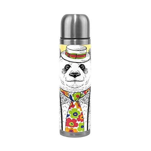 TIZORAX Fashion Panda en Colorido pajarera Doble Pared Taza de Vacío Aislado...