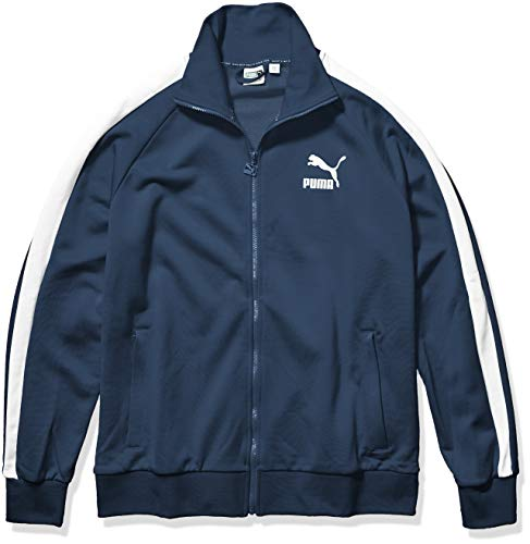 PUMA Men's Iconic T7 Track Jacket, Dark Denim, L
