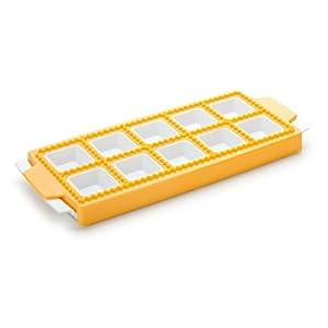Tescoma 630877 Delicia Stampo per Raviolini Quadrati, Plastica, Giallo, 10 Pezzi, 1 Pezzo