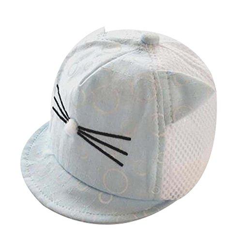 Grand cadeau chapeau de plage pliable Chapeau d'été Bonnet de coton Bonnet de bébé Lovely Sunhat Blu
