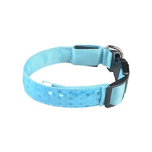 Yowablo hundehalsband led LED LED-Leuchthalsband LED leuchthundehalsband leuchtendes hundehalsband LED (45~52 * 2.5cm,3Blau)