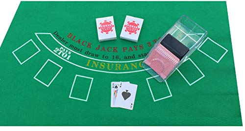 POKER CHIP SHOP BLACKJACK SET WI...