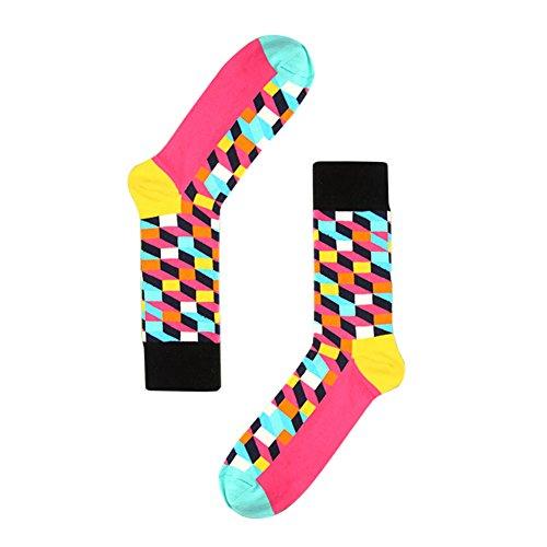 TININNA 1Paire Chaussettes Haute de Treillis Classique Homme Bas de Contention Long Socks Basse Socquettes Elasticité Sport Originales Semelle #2