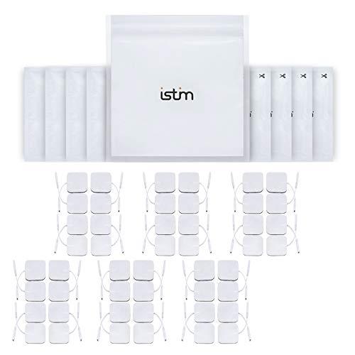 "iStim Super Soft 2""x2"" TENS Unit Electrodes for TENS Massage EMS - 100% Japanese Gel (2""X2"" - 48 Pieces)"