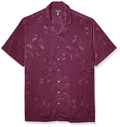 Van Heusen Big and Tall Air Tropical Short Sleeve Button Down Shirt Camisa Abotonada, Purple Passion, XXL Alto para Hombre