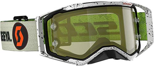 Scott Prospect Special Edition MX Goggle Cross/MTB Brille kaki grün/gelb Chrom Works