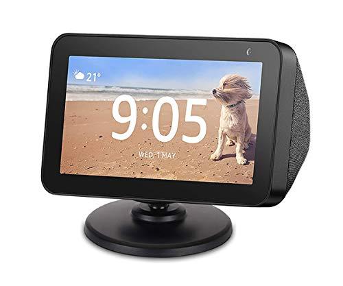 Verstellbarer Ständer für Echo Show 5, Base Mount Zubehör Kompatibel mit Amazon Alexa 5 Smart Speaker, Eingebaute Magnete, Schwenk- und Neigung, Rutschfeste Basis, Schwarz