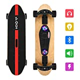 SANSIRP Music Bluetooth Skateboard,Standard Skateboard with Charging Mouth/TF Card Multifunctional Skateboard with LED -Projection Flashes Suitable for Night and Party