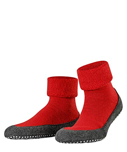 FALKE Herren Cosyshoe Schurwolle Abs Hausschuh Socken, Rot (Fire 8150), 45-46 EU