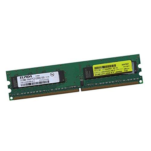 Elpida 512MB RAM EBE51UD8AGWA-6E-E 240-Pin Dimm DDR2 PC2-5300U 667MHZ 1Rx8 CL5