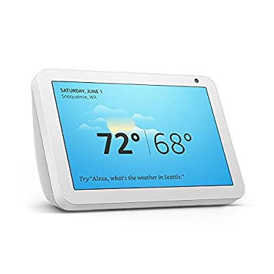 """Echo Show 8 - HD 8"""" smart display with Alexa - Sandstone bundle with Lifx Smart Bulb 2-pack from"""