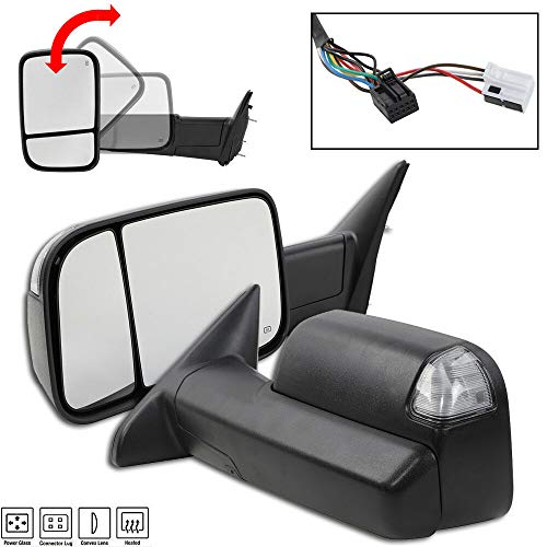 Lowest Prices! LH & RH Power Heated Towing, Compatible with 09-12 Dodge Ram 1500 Pickup Signal Light...